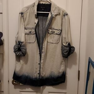 Awesome Denim button up top